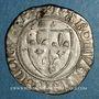 Münzen Charles VI (1380-1422). Blanc guénar à l'O rond, 2e émission (1389). Saint-Lô
