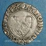 Münzen Charles VI (1380-1422). Blanc guénar à l'O rond, 2e émission (1389). Sainte-Menehoud