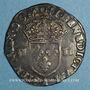 Münzen Charles X, roi de la Ligue (1589-1590). 1/4 d'écu 1590 A et point 18e. Paris