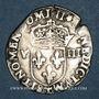 Münzen Charles X, roi de la Ligue (1589-1590). 1/8 d'écu 1596 T, point 5e et 17e. Nantes