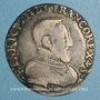 Münzen Henri II (1547-1559). Teston 2e type 1555 L. Bayonne