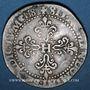 Münzen Henri III (1574-1589). 1/2 franc au col légèrement dentelé 1587 A