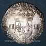 Münzen Henri III (1574-1589). 1/4 d'écu 1582 H. La Rochelle. Variante inédite !