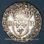 Münzen Henri III (1574-1589). 1/4 d'écu 1583 C et point 19e. Saint-Lô