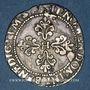 Münzen Henri III (1574-1589). 1/4 de franc au col plat, 1589 M et point 5e. Toulouse