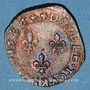 Münzen Henri III (1574-1589). Double tournois 1586 H. La Rochelle