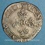Münzen Henri III (1575-1589). 1/2 franc au col plat 1588 B. Rouen