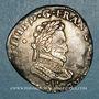 Münzen Henri IV (1589-1610). 1/2 franc 1591 I et point 10e. Limoges