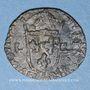 Münzen Louis XIII (1610-1643). Douzain illégal émis par les Huguenots. Refrappé sur un double tournois