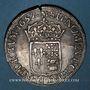 Münzen Louis XIV (1643-1715). Ecu de Béarn à la mèche longue 1657. Morlaas