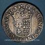 Münzen Louis XIV (1643-1715). Ecu de Navarre à la mèche longue 1654. Saint-Palais