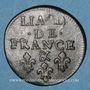 Münzen Louis XIV (1643-1715). Liard de France au buste âgé, 3e type, 1699 &. Aix. Avec soleil