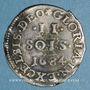 Münzen Louis XIV (1643-1715). Monnayage particulier de Strasbourg. II sols de Strasbourg 1684