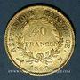 Münzen 1er empire (1804-1814). 40 francs tête laurée, REPUBLIQUE, 1808 M. Toulouse. (PTL 900‰. 12,90 g)