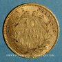 Münzen 2e empire (1852-1870). 10 francs Napoléon III tête laurée 1862 A. (PTL 900‰. 3,22 g)