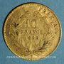 Münzen 2e empire (1852-1870). 10 francs Napoléon III tête laurée 1868 A. (PTL 900‰. 3,22 g)