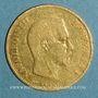 Münzen 2e empire (1852-1870). 10 francs tête nue 1859 A, grand module. (PTL 900‰. 3,22 g)