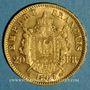 Münzen 2e empire (1852-1870). 20 francs Napoléon III tête laurée 1867 A. (PTL 900‰. 6,45 g)
