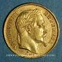 Münzen 2e empire (1852-1870). 20 francs Napoléon III tête laurée 1868 BB. Strasbourg. (PTL 900‰. 6,45 g)