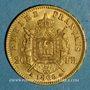 Münzen 2e empire (1852-1870). 20 francs Napoléon III tête laurée 1869 A. (PTL 900‰. 6,45 g)