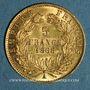 Münzen 2e empire (1852-1870). 5 francs Napoléon III tête laurée 1868 A. (PTL 900‰. 1,612 g)