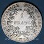 Münzen 1er empire (1804-1814). 1 franc tête nue an 13 A