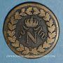 Münzen 1er empire (1804-1814). 1er blocus de Strasbourg 1814. 1 décime 1814 BB. Points après DECIME
