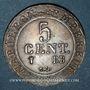 Münzen 1er empire (1804-1814). 5 centimes 1808 BB. Strasbourg