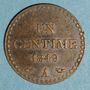 Münzen 2e république (1848-1852). 1 centime 1849 A