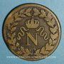Münzen Cent Jours. Napoléon I. 2e Blocus Strasbourg 1815. 1 décime 1815 BB. Points après DECIME et 1815