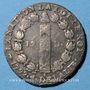 Münzen Constitution (1791-1792). 12 deniers 1792 A, an 4. Type FRANCOIS. Léopard à droite et lyre