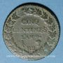 Münzen Consulat (1799-1804). 5 centimes an 9 BB. Strasbourg