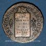 Münzen Convention (1792-1795). Sol aux balances, type FRANCOISE 1793MA. Marseille. Différent tête en haut