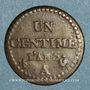 Münzen Directoire (1795-1799). 1 centime an 6 A. 53 perles à l'avers et 50 au revers