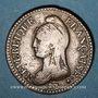 Münzen Directoire (1795-1799). UN décime, modification du 2 DECIMES avec S effacé an 4 A