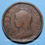 Münzen Directoire (1795-1799). UN décime surfrappé sur 2 DECIMES an 5 B. Rouen.
