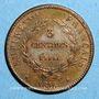 Münzen Napoléon II (1811-1832). 3 centimes 1816. Essai. Bronze