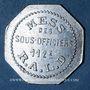 Münzen Artillerie. 112e RALD. Mess des Sous-Officiers. Angoulême. 1 franc