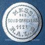 Münzen Artillerie. 112e RALD. Mess des Sous-Officiers. Angoulême. 5 centimes