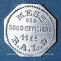 Münzen Artillerie. 112e RALD. Mess des Sous-Officiers. Angoulême. 50 centimes