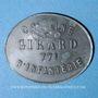 Münzen Cholet (49). Cantine GIRARD - 77e d'Infanterie. 10 centimes. Contremarqué