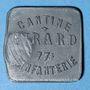 Münzen Cholet (49). Cantine GIRARD - 77e d'Infanterie. 5 francs. Contremarqué