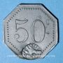 Münzen Cholet (49). Cantine GIRARD - 77e d'Infanterie. 50 centimes. Contremarqué
