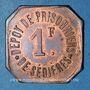 Münzen Clergoux (19). Dépôt de Prisonniers de Sédières. 1 franc