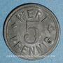 Münzen Colmar (68). Bäcker-Innung (corporation des boulangers). 5 pfennig n. d.