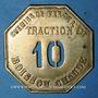 Münzen Compagnie des Chemins de Fer de l'Est. Traction, Boisson chaude 10