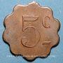 Münzen Couëron (44). Usines. 5 centimes