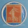 Münzen Crédit Lyonnais. 10 centimes (rouge/bleu)