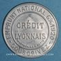 Münzen Crédit Lyonnais. 25 centimes (bleu/blanc)