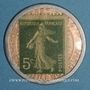 Münzen Crédit Lyonnais. 5 centimes (vert/rose)